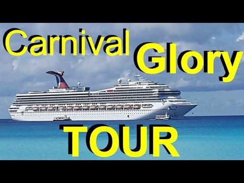 Carnival Glory Cruise Ship Full HD Tour 2017