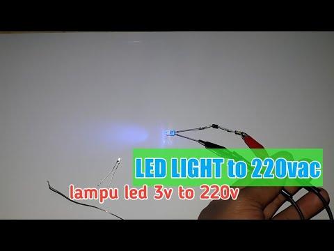 Cara Menyalakan Lampu Led Ke 220vac Led 3v To 220v Youtube