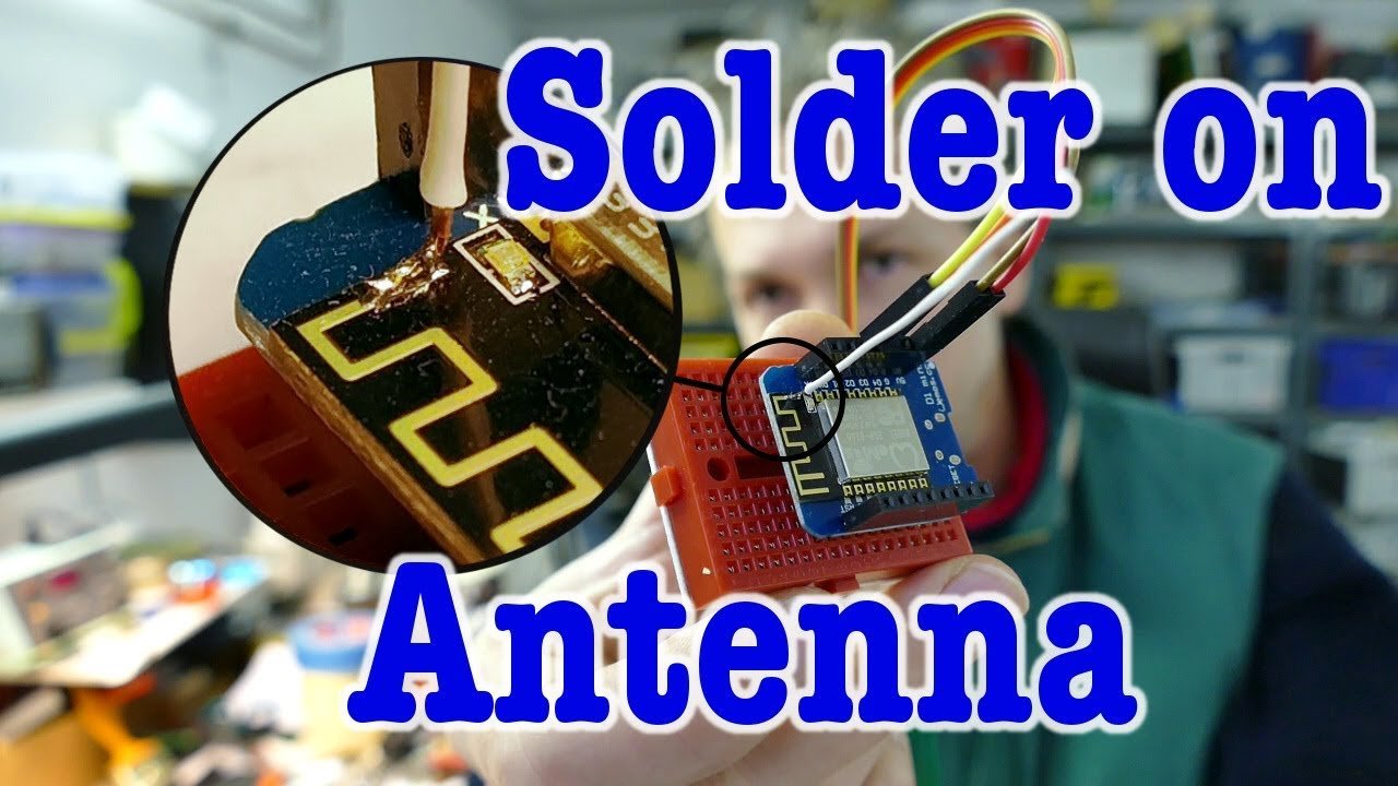 Solder on antenna for ESP8266