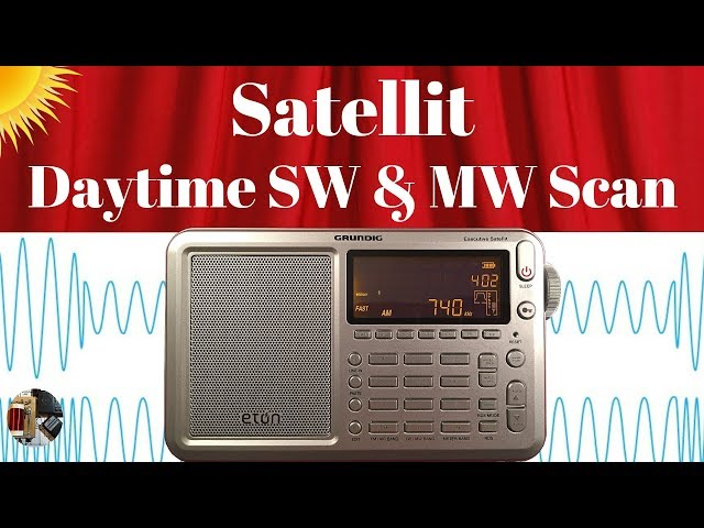 Eton Executive Satellit | Daytime Shortwave & MW Scan