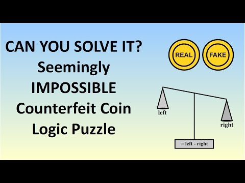 Can You Solve The Seemingly Impossible Counterfeit Coin Logic Puzzle?