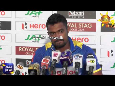 Dhanushka Gunathilake at Post Match Press Conference