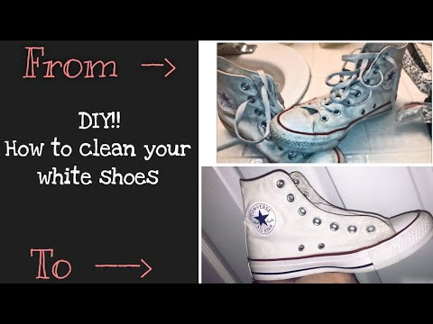 How to clean your white shoes! DIY easy clean converse!