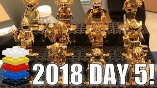 GOLD LEGO MINIFIGURES, Meeting Fans, & COOL LEGO MOCS!   MandRproductions LEGO Vlog!