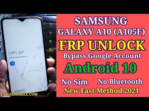 Samsung A10 FRP Bypass Android 10 || Samsung A105F Google Account Bypass...