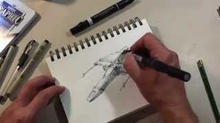 Spaceship Drawing Demo 1 - Spaceship A Day