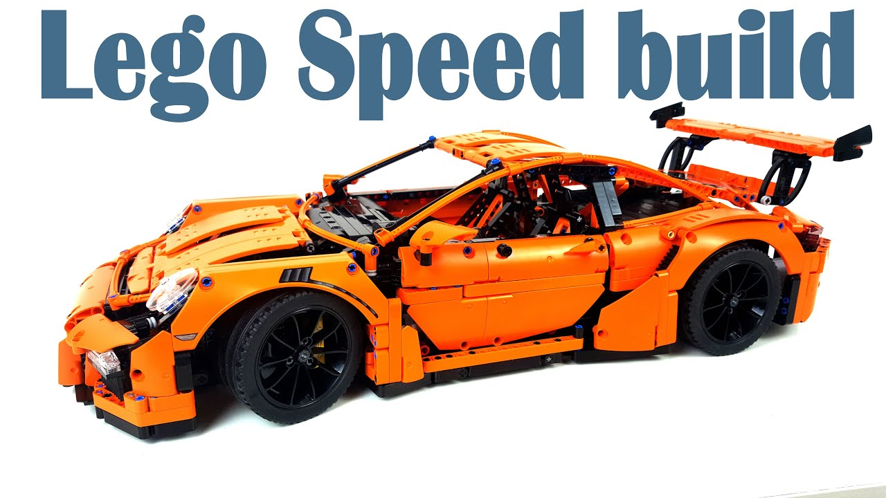 lego porsche 911 gt3 rs speed build at factory moc youtube