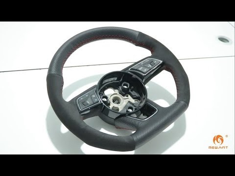 MEWANT--for Audi A1 A3 A4 A5 Q2 2016-2019 (D Shape) Steering Wheel Cover Installation