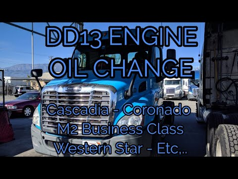 Freightliner Cascadia DD13 ENGINE oil change explained OM 471