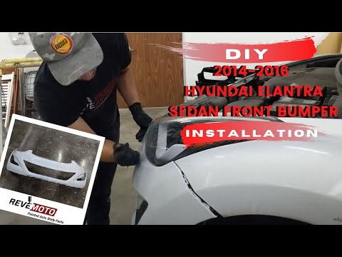 How To Replace 2014-2016 Hyundai Elantra Front Bumper