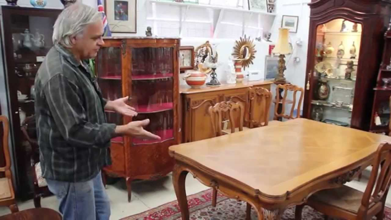French Antique Draw Leaf Extension Table   Louis XV Style   YouTube