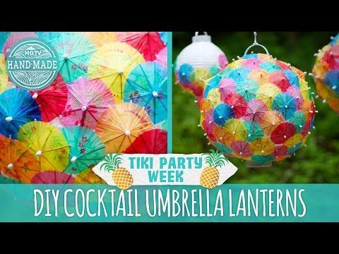 DIY Cocktail Umbrella Lanterns - Tiki Party Week - HGTV Handmade
