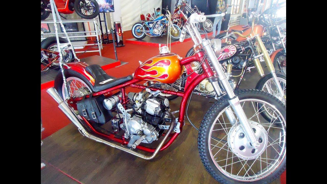 Modifikasi Scorpio 225 Custom Chopper Bobber Vintage