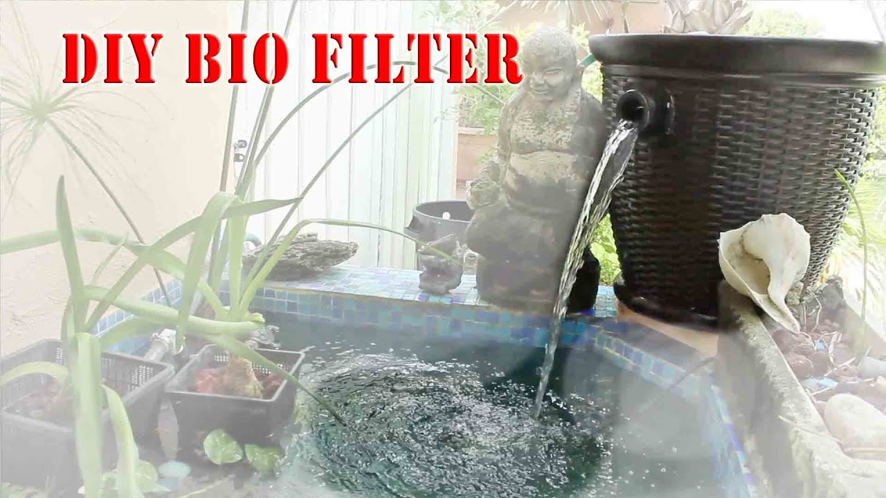 How to build a homemade bio filter diy youtube for Diy pond filter bucket