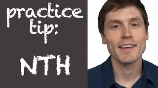 NTH Cluster Practice Tip -- American English Pronunciation