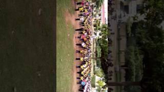 Trường Tiểu học Nhơn Sơn B tập thể dục giữa giờ
