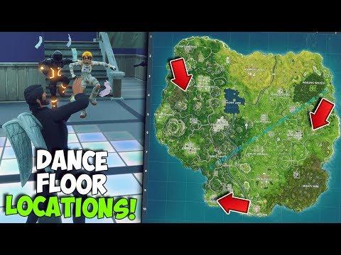 ALL DISCO DANCE FLOOR LOCATIONS IN FORTNITE | WEEK 8 CHALLENGE 'Dance On Different Dance Floors'