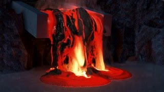 400GB's full of Lava - Houdini 15 Lava Simulation in 4K
