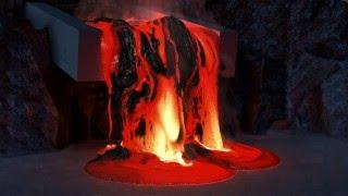 400GB's full of Lava - Houdini 15 Lava Simulation in 4K