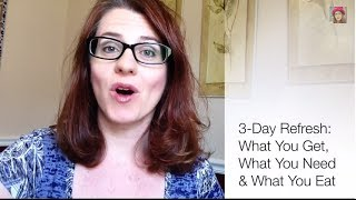 3 Day Refresh: What You Get, What You Need & What You Eat