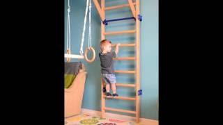 Детский деревянный спорткомплекс (шведская стенка)