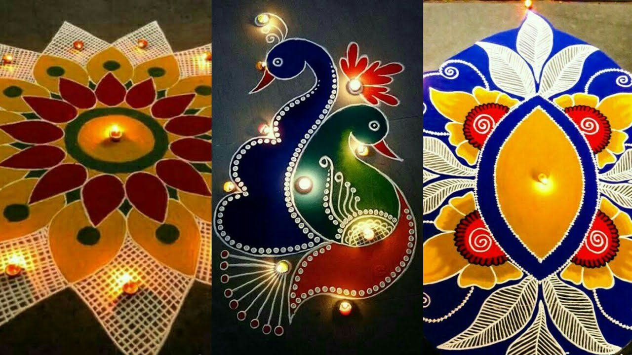 Latest Unique Rangoli Design For Diwali 2017