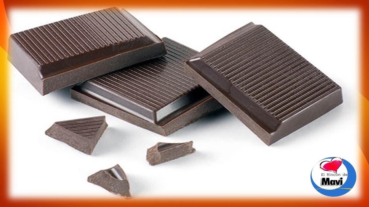 Propiedades curativas del chocolate negro