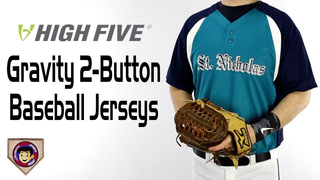 check out 6b1fe 7aa6d High Five 12130 Two Button Baseball Jerseys - Homegrown Sporting Goods