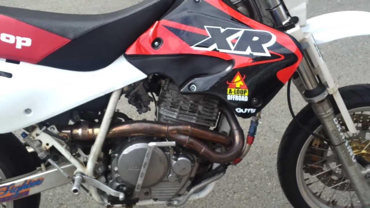 xr600r motard aloop kit - youtube