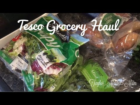 Tesco Grocery Haul & Meal Plan