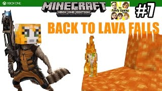 Dad & Son play MINECRAFT XBOX ONE: Back to Lava Falls! (#7)  (FGTEEV Commentary)