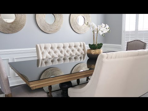 DINING ROOM MAKEOVER| INTERIOR STYLING + MIRROR INSTALL (LAMPS PLUS)