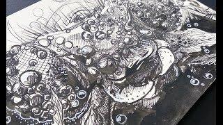 Урок по рисованию - стрекоза макро