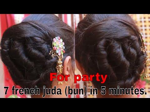 Latest 7 French Juda(bun) Hair Style