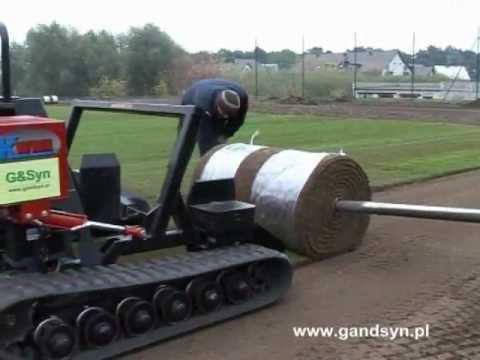 G&SYN układanie trawy rolowanej - Międzychód - boisko na Euro 2012