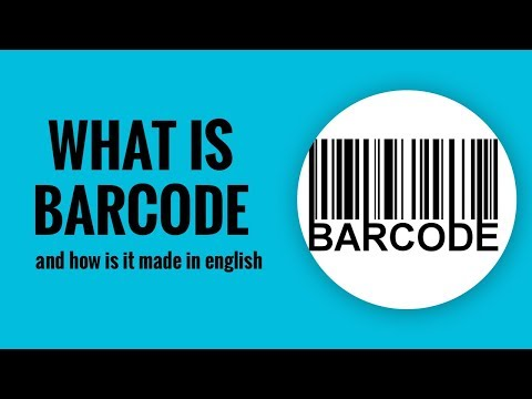 What is barcode and how is it made in english