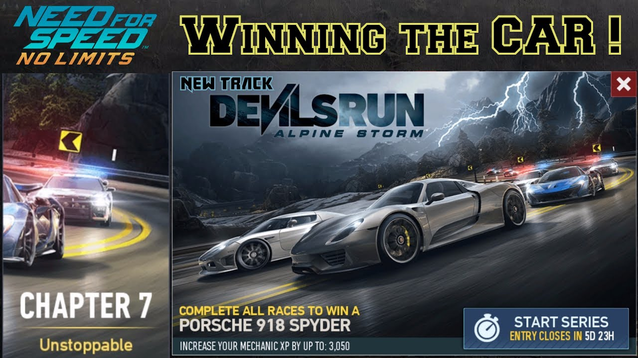 nfs no limits devil 39 s run alpine storm porsche 918. Black Bedroom Furniture Sets. Home Design Ideas