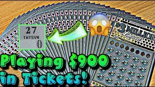 I FOUND BIG ZERO'S TWICE! THIS IS A $30 LOTTERY TICKET AND I HAVE 30 OF THEM! HOW MUCH DID I WIN?!