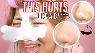 "HUGE PAINFUL BLACKHEAD STRIP! this should be ""world"