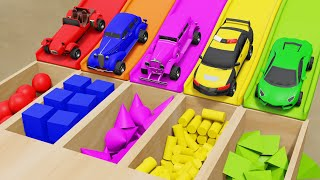 Playtime Kids Video Pretend Play Street Vehicles Sliding Tracks Numbers Shapes for Kids