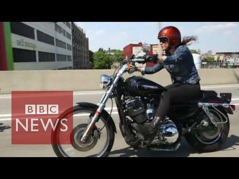 Female only biker club in New York - BBC News