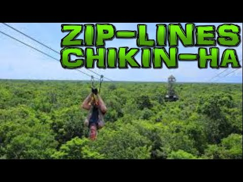 ZIP LINES in Chikin-Ha Akumal Riviera Maya Mexico 4K