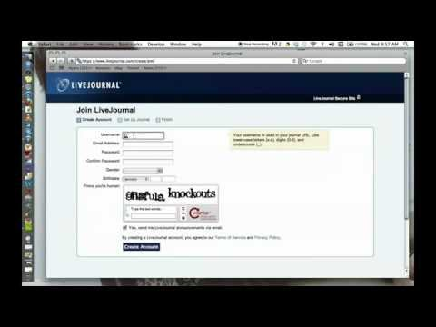 How to create a LiveJournal account 2013