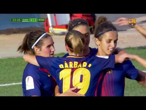 Zaragoza vs FC Barcelona Women + Debut Lieke Martens 0 9 Liga Femenina 03 09 2017 S