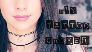 DIY Tattoo Choker with Pendant