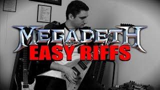 TOP 10 EASIEST MEGADETH RIFFS (beginner friendly video!)