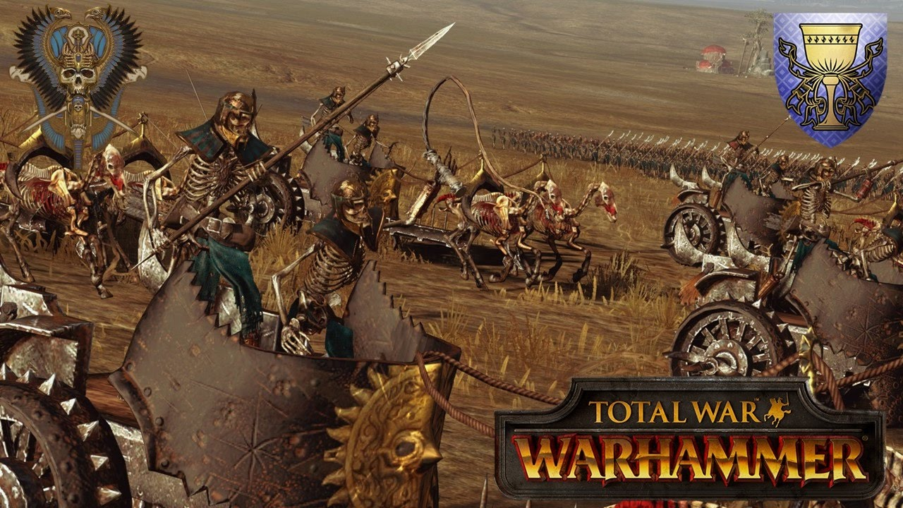Tomb Kings Mod Gameplay - Total War Warhammer Multiplayer Battle -  Bretonnia Crusade into Nehekhara
