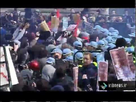 Clashes between Police and Student Protesters in London [Farsi Report] [Nov 24, 2010]