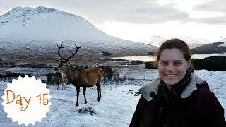 Snow Everywhere!  Travelling to Glencoe, Scottish Highlands | VLOGMAS