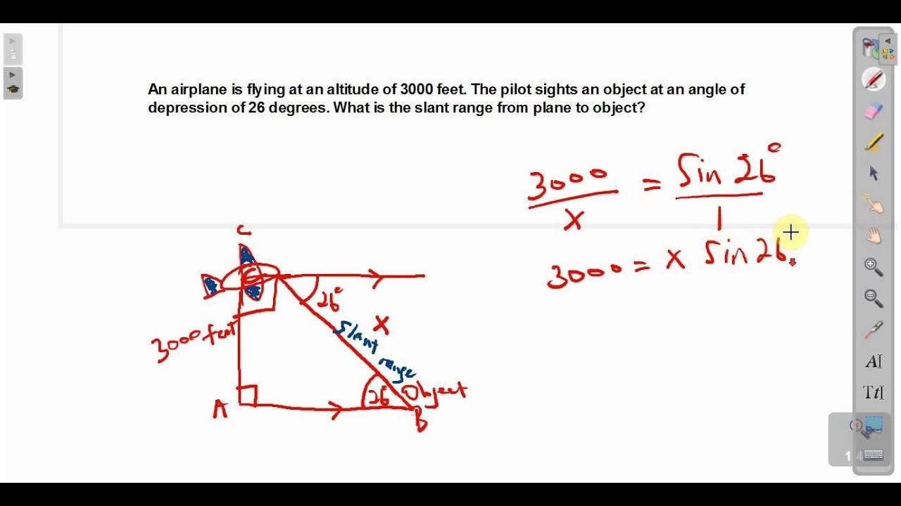 Cxc Csec Maths Angle Of Depression Act Math Sat Math Youtube
